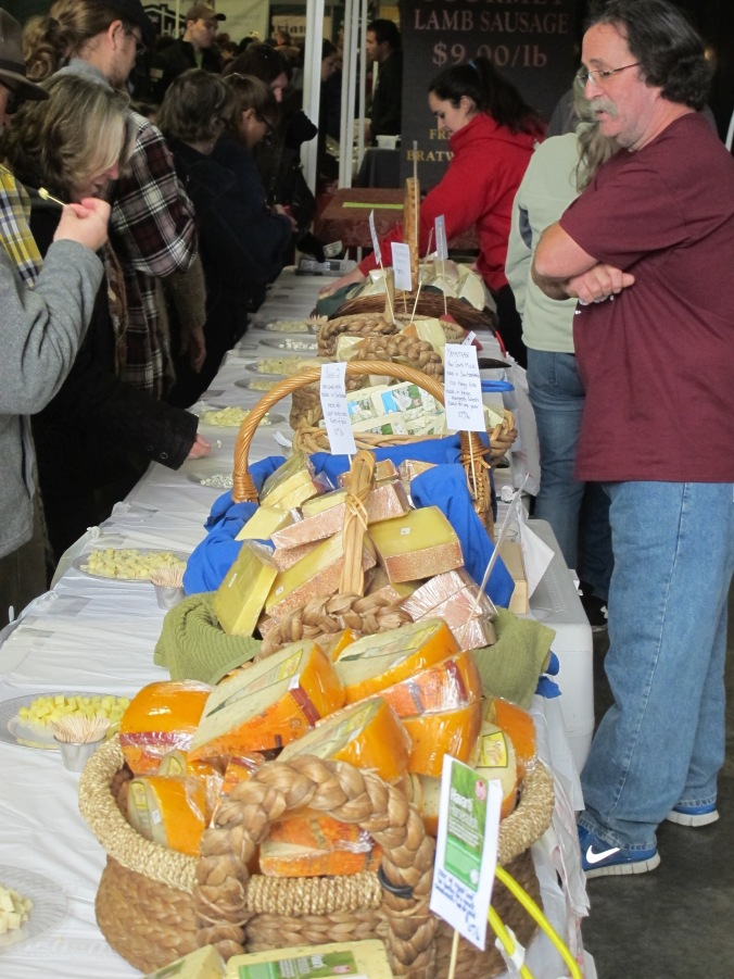 Cheese for sale in the food barn